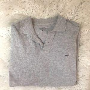 Vineyard Vines Shirts - Vineyard vines gray long sleeve polo shirt Sz m